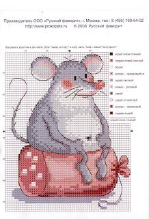 схема вышивки крестом голодная мышь