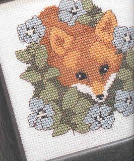 схема вышивки крестом лисенка