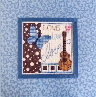 схема вышивки крестом с гитарой