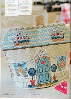 схема вышивки крестом домик на чайник