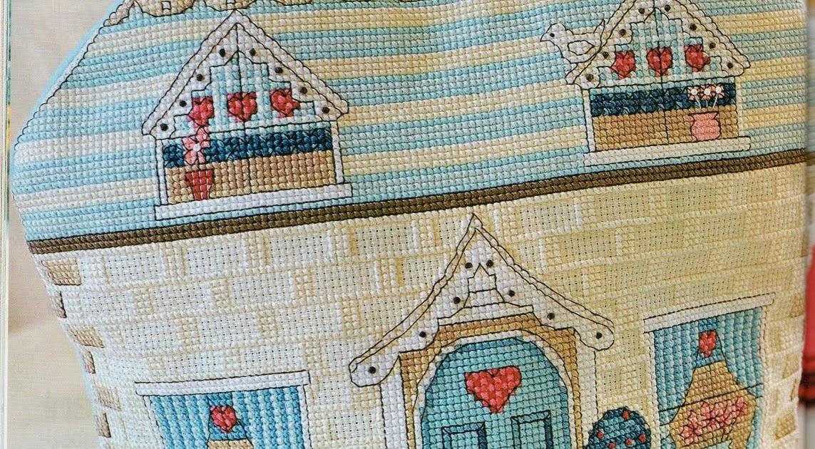 Схемы для вышивки крестом домик