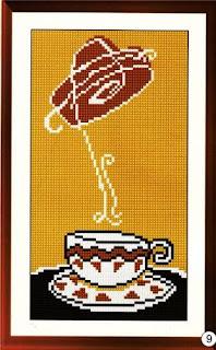 схемы вышивки крестом веселый кофе