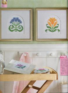 схемы вышивки крестом готические цветы