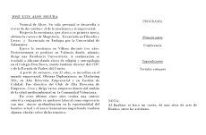 """Conferencia de José Luis Alós Segura, titulada """"Visión de la Pascua y el """"Nuevo Humanismo"""""""
