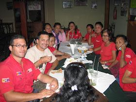 almoço com as militantes bolivarianas de monagas