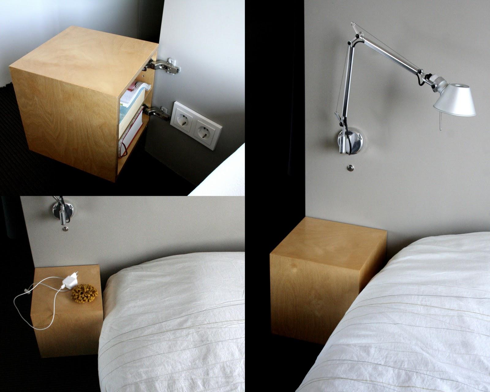 Lightbluegrey nightstands - Cube nachtkastje ...