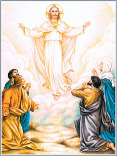 Jesus Christ ascension to Heaven drawing art picture, people praying Jesus download free religious images and PPT Christian pictures