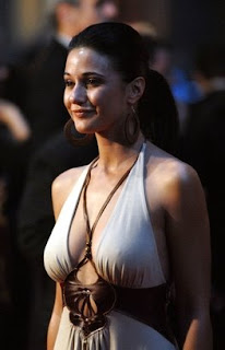Sexy Emmanuelle Chriqui at a party hot image