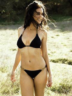 Emmanuelle Chriqui hot in black bikini pic