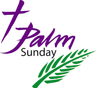 Palm Sunday stylish logo with cross and palms hot picture