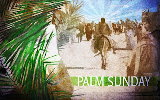 On Palm Sunday day Jesus Christ coming on donkey at palms sexy pic