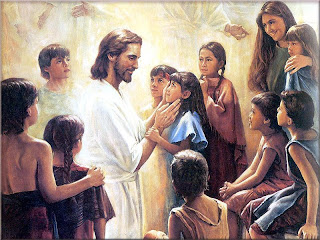 Jesus Christ shining taking care and playing with children and kids around him hd(hq) Christian religious wallpaper