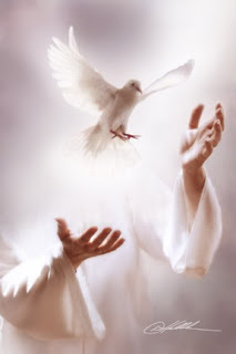 Jesus Christ holding the dove with the holy spirit and peace free religious Christian picture download