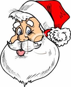 Santa Claus Cartoon Face