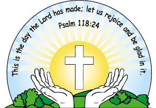 Drawing art picture of Psalm 118:24 bible verse with worshiping praying hands before Cross nature sunrise background free download religious images of God(Jesus Christ) and holy photos