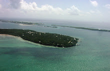 Aerial of Lubbers Quarters in the Sea of Abaco