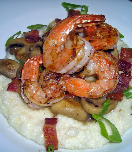 Low country pink shrimp and grits