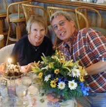 Sam & Meakin celebrating at Wally's Restaurant