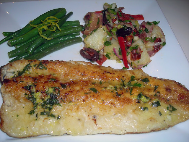 ... Kitchen: Trout with Lemon Sage Butter Sauce and Provencal Potato Salad