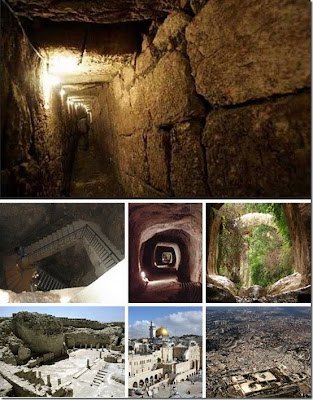 underground channel ancient on yerusalem