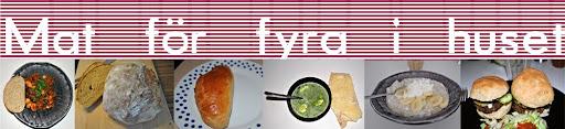 mat för 4 ihuset