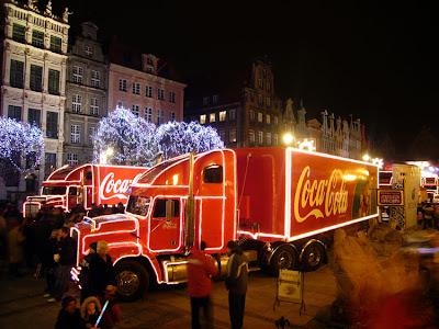 konwój świąteczny coca cola