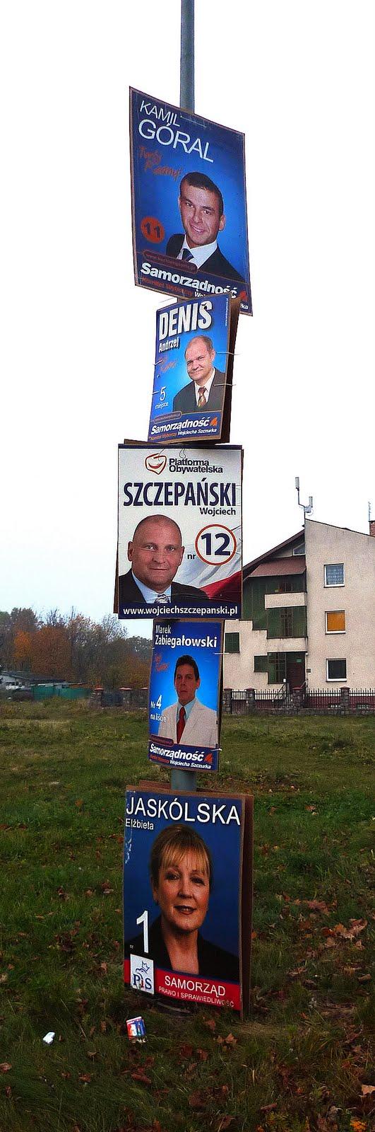 plakaty wyborcze gdynia babie doły