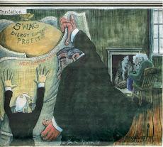 Cartoonist captures Brown's role in enriching Big Business, making the poor poorer