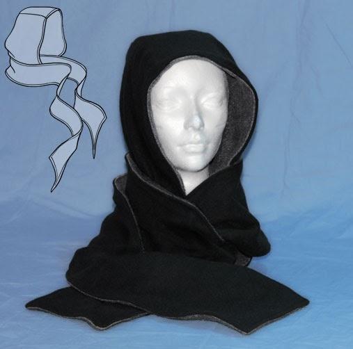 patron couture echarpe capuche