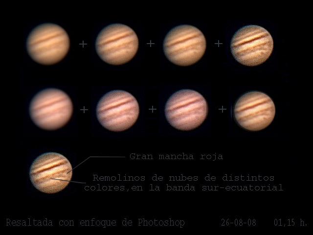 Nuevo intento con Júpiter y la webcam