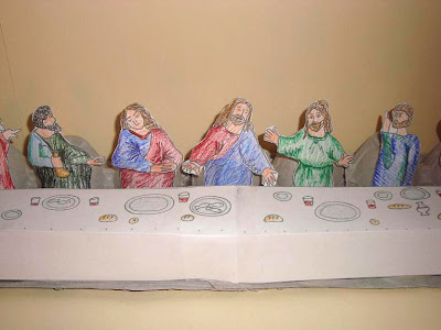 When you're all done, proudly display this adorable craft on your ... Da Vinci Last Supper Coloring Pages