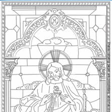 Mary martha and jesus coloring pages for Sacred heart of jesus coloring page