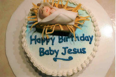 Happy birthday jesus cakes i love the angels on this one fandeluxe Choice Image