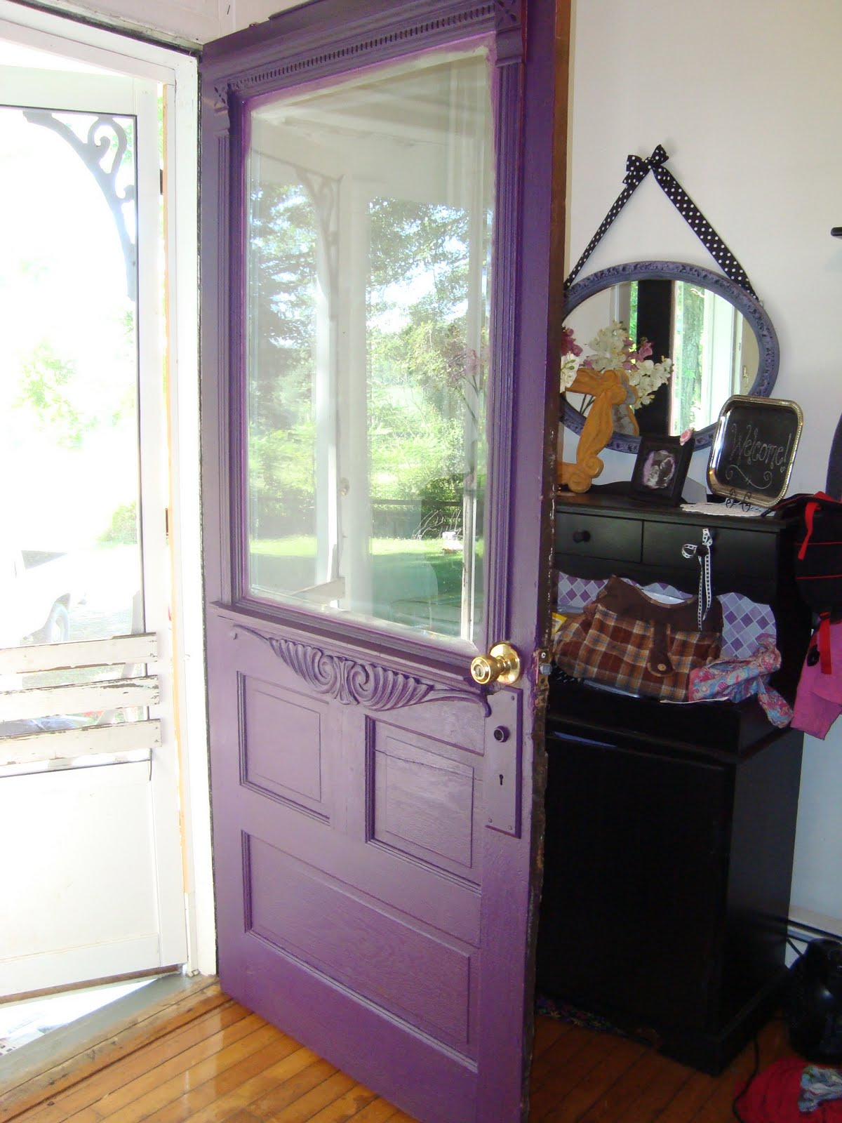 1600 #926232 Tales From The Farmhouse: Purple Front Door wallpaper Purple Front Doors 47051200