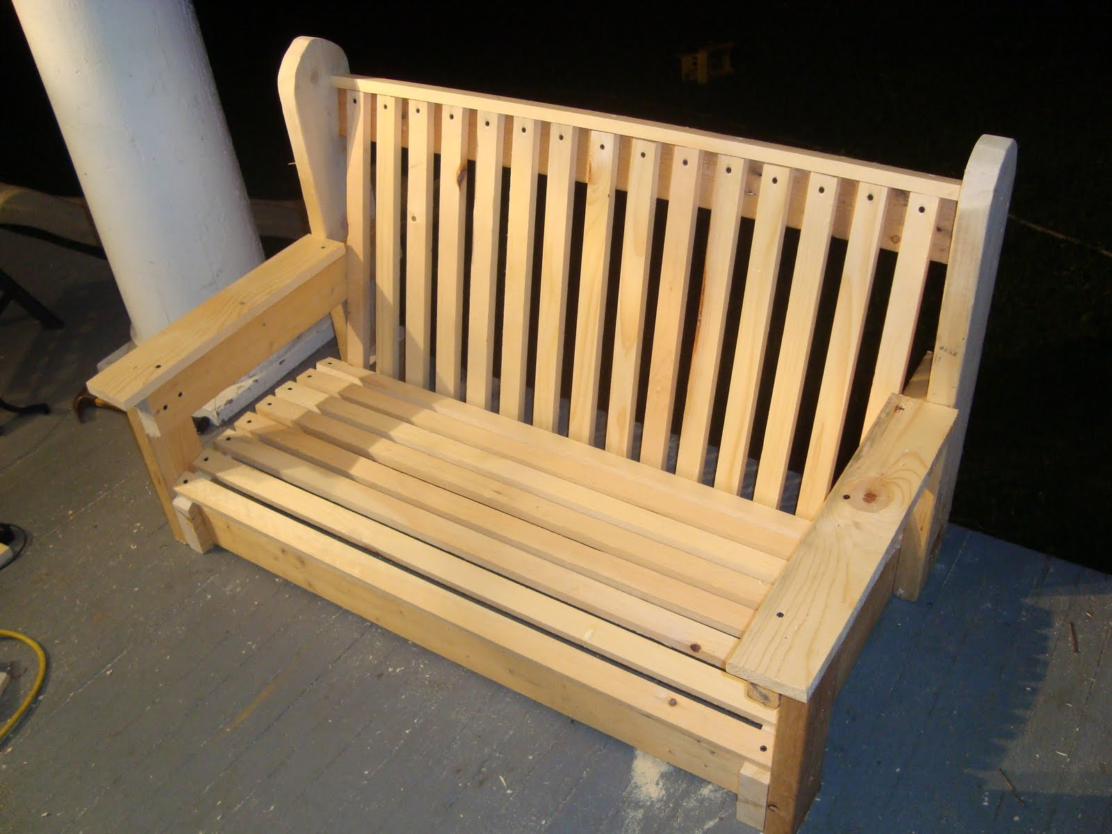 tales from the farmhouse building a porch swing. Black Bedroom Furniture Sets. Home Design Ideas