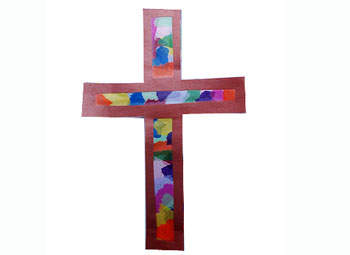 Catholic icing cross crafts for kids for Cross craft for kids