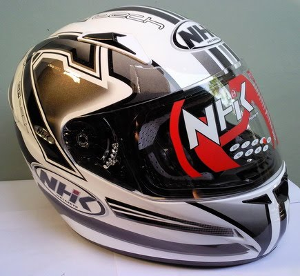 Helm NHK Gp Tech White Silver