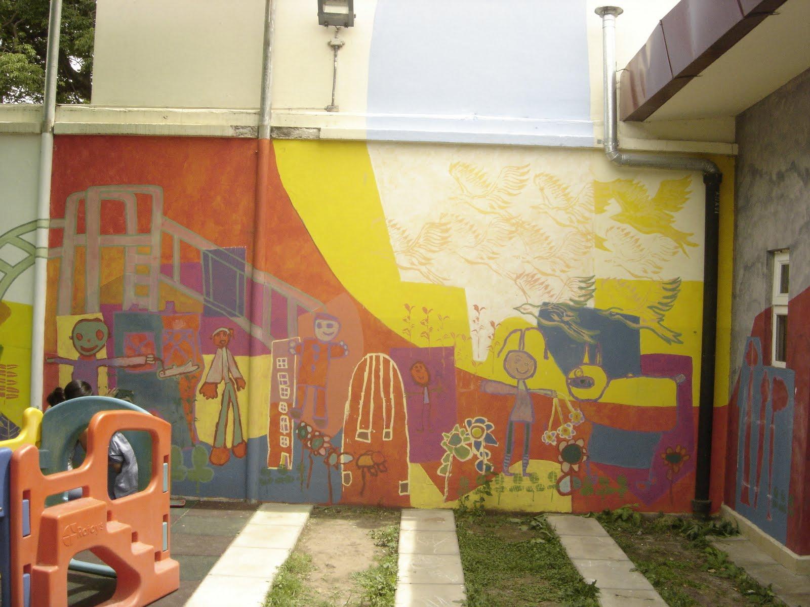 Taller de muralismo con ni os murales en jard n de for Jardines murales