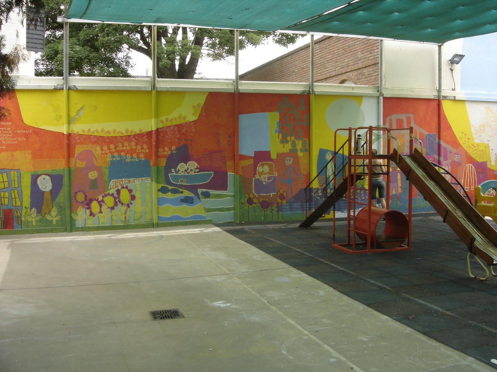 Taller de muralismo con ni os murales en jard n de for Mural jardin