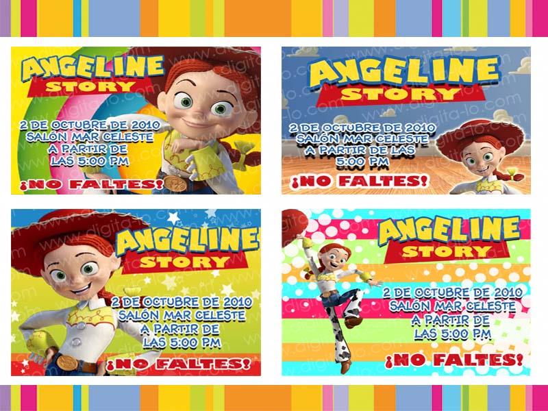 digitalo: Invitaciones Jessie La Vaquerita Toy Story 3