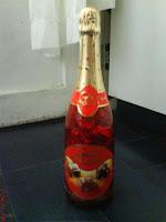 botella de bombones