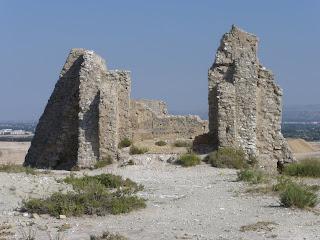 ruinas ermita de Santa Barbara Valdespartera Zaragoza