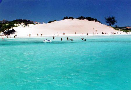 Praia das Dunas E Ideal para a Pr�tica de Esportes N�uticos Cercada de Areias Brancas de e finas