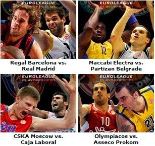 Cuartos Euroliga Baloncesto 2010