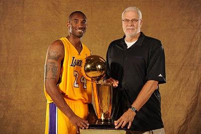 Phil Jackson con Kobe Bryant
