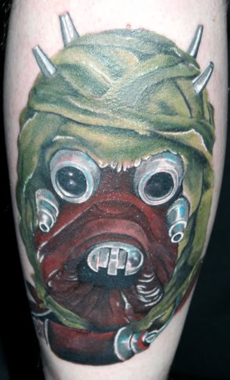 Tusken Raider Tattoo Yoda Arm Tattoo