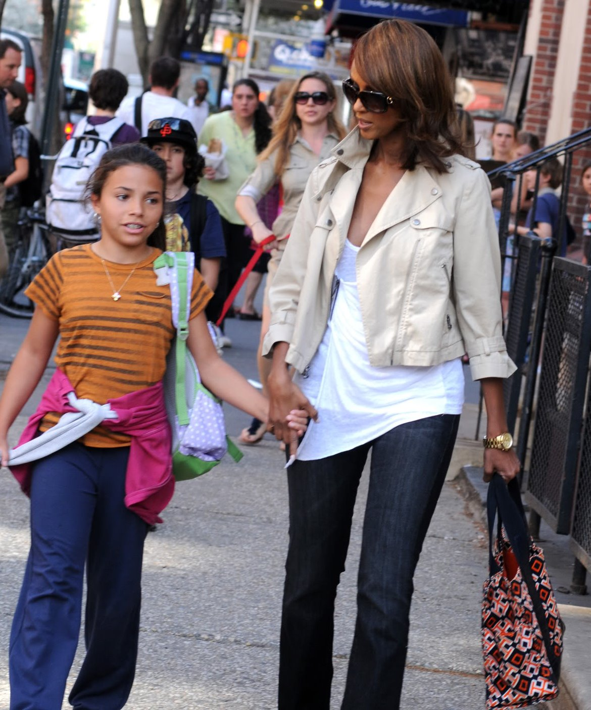 Iman & her youngest daughter, Alexandria, out in NYC
