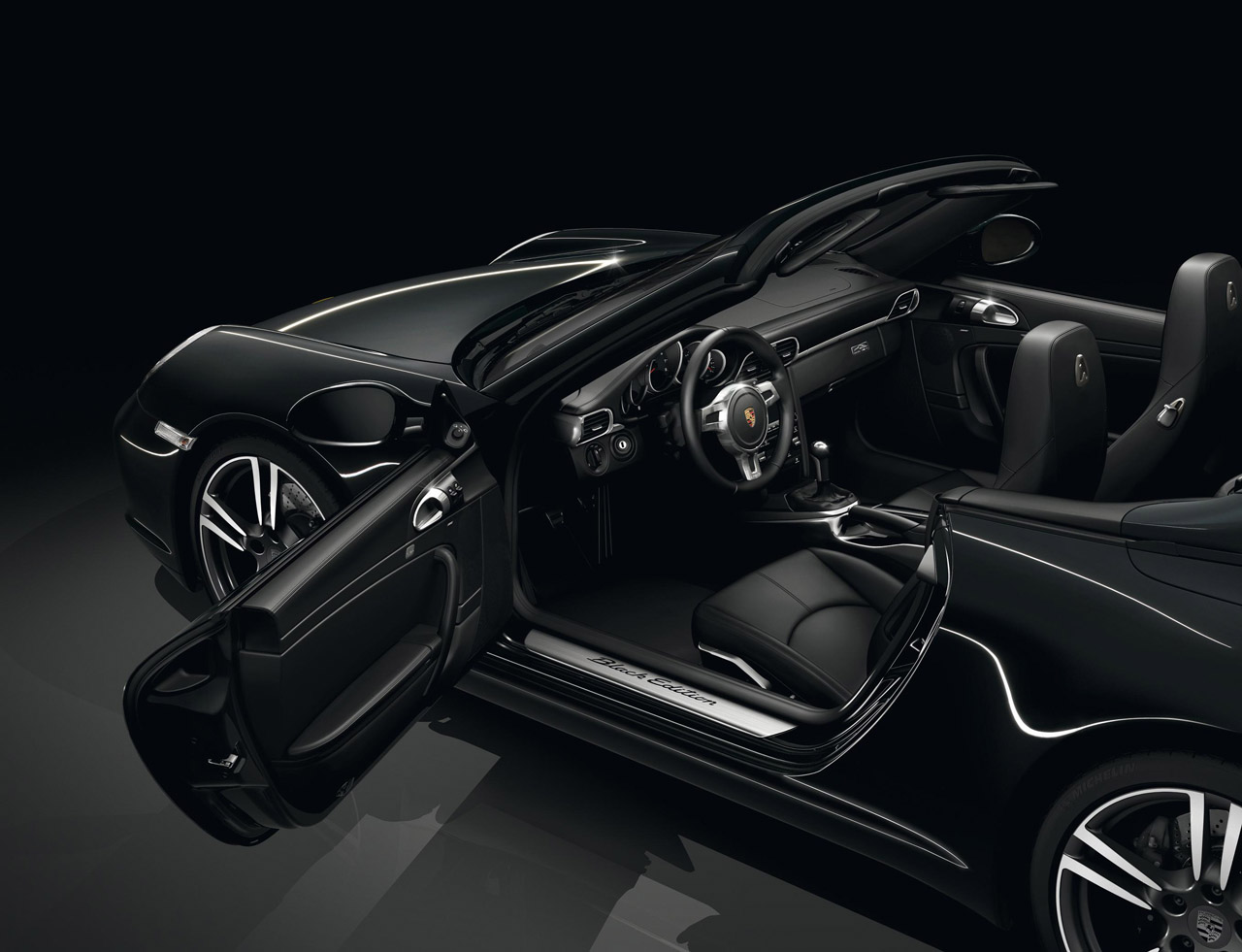 2012 PORSCHE 911 BLACK EDITION INTERIOR