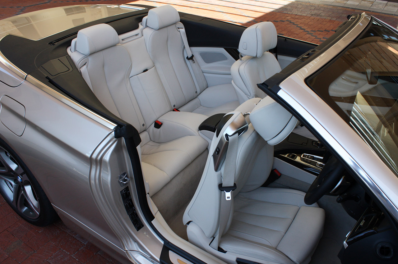 2012 BMW 6 SERIES CONVERTIBLE SEAT DESIGN