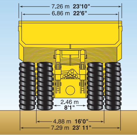 HAULPAK 830E AC KOMATSU SPECIFICATION DIMENSION